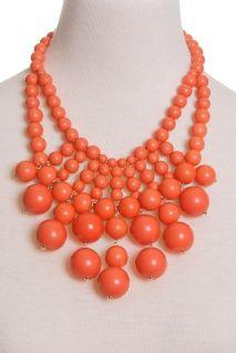 Orange Bliss Necklace, $45 via Peacock Plume