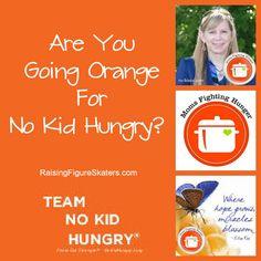 Are You Going Orange? #goorange #debchitwood #nokidhungry #feedingamerica #momsfighthunger