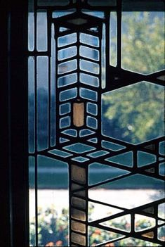 Robie House-window detail by FLW Frank Lloyd Wright, Organic Architecture, Art And Architecture, Architecture Details, Hyde Park, Robie House, Wisconsin, Arizona, Prairie House