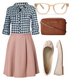 """Lovely Saturday"" by mnmarcin ❤ liked on Polyvore featuring Fat Face, Tara Jarmon, Gap, Madewell and MICHAEL Michael Kors"