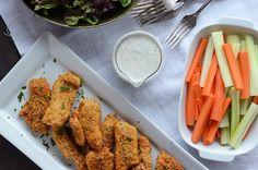 Baked Chicken Tenders {Gluten-Free} #recipe #dinner #fast
