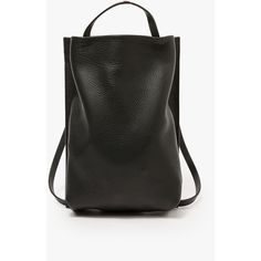 Chiyome Black Large Tote Pack (1655 QAR) ❤ liked on Polyvore featuring bags, handbags, tote bags, black tote purse, black tote, tote handbags, genuine leather tote and black handbags