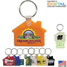 Promotional House Key Fob | Customized Key Chains | Promotional Key Chains