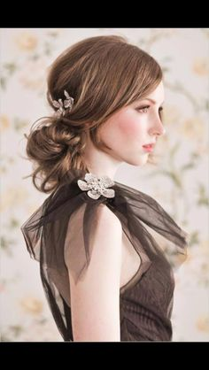UpDo with waves and hair accessories