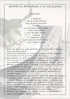 Gratén de berenjenas a la siciliana – delicious stories Moussaka, Vegetable Recipes, Vegetarian Recipes, Healthy Recipes, Kitchen Recipes, Cooking Recipes, Dried Apples, Empanadas, Sin Gluten