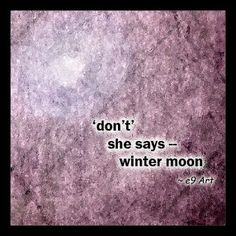 Winter Moon haiku by e9 Art  #haiku #haiga #micropoetry #pinlit