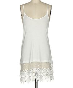 Love this Off-White Lace Tunic on #zulily! #zulilyfinds