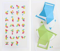 6 - a typographic puzzle kit by Once upon a fold