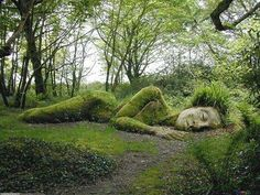 Earth Pics @Earth Pics  ·    The Peaceful Sleeping Goddess in Heligan England