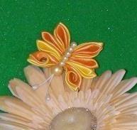 Satin & Pearl Butterfly Fridge Magnet