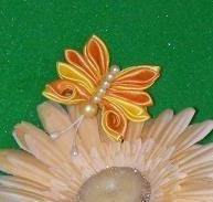 Satin & Pearl Butterfly Fridge Magnet