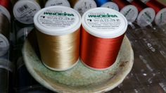 Madeira Rayon Embroidery Thread Lot of 2 each Col. 1055 and Col. 1221 New Machine Embroidery Thread, Tableware, Wood, Dinnerware, Dishes