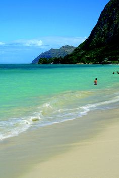 "Waimanalo Beach Park on Oahu's east side. This beach was recently ranked one of the top 10 beaches in the U.S. by Professor Stephen P. Leatherman (""Dr. Beach"") in his yearly list."
