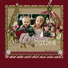 Christmas Cuties - Scrapbook layout by eleanor