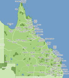 Map of the state of Queensland.the Gold Coast is in the south-east of the map.down on the bottom right, near the border with the state of New South Wales. Australia 2018, Gold Coast Australia, Queensland Australia, Australia Travel, Melbourne, Brisbane, Sydney, East Coast Road Trip, State Parks