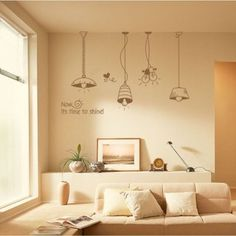 This is how small pieces of wall stickers make big difference to a living room