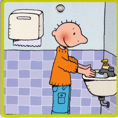 Jules handen wassen
