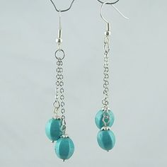 Turquoise beaded earring wholesale,plated finding#a003 : OK Charms, China Wholesale Jewelry Accessories Marketplace