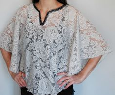 DIY Lace Top so cute and easy to make