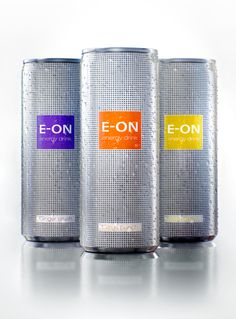 E-ON energy drink by Ira Kochkina, via Behance