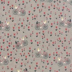 NOTE: Look closely and you will find the most adorable cats on the back of the bikes! :) Manufacturer: Moda Basicgrey Floral Grey Mon Ami Bicyclette Gris 30413 19 Moda #1 Fat Quarter: 18 x 22 Half Yard: 18 x WOF (43/44) Full Yard: 36 x WOF (43/44) 100% cotton When ordering multiple quantities, all yardage comes continuous! We refund shipping overages. Please see our policy section for more information. ---------------------------------------------------------------------------------------...