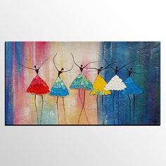 Abstract Art, Canvas Art, Ballet Dancer Painting, Dancing Painting, He Texture Art, Texture Painting, Hand Painting Art, Ballet Painting, Canvas Paintings For Sale, Dance Paintings, Colorful Paintings, Online Painting, Large Art