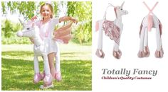 1f5d5c5c2d99 Ride on Unicorn Girls Fancy Dress Animal Fairy Tale Book Day Kids Childs  Costume for sale online | eBay