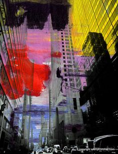 2012 New York photography combined with painting. Mixed media works available on canvas, acrylic diasec, resin or aludibond in editions of Montage Photography, A Level Photography, Art Photography Portrait, New York Photography, Mixed Media Photography, Urban Photography, Abstract Photography, Photography Ideas, Photography Aesthetic