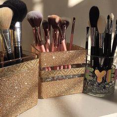 """Love these for makeup brushes #thestyleluxe"""