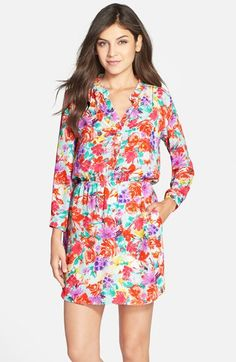 Floral Crepe Shirtdress // Charles Henry