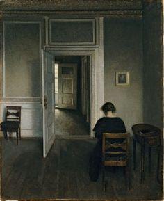 Vilhelm Hammershøi (1864-1916) Danish Painter