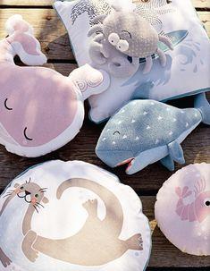 pinterest: rayray0033  // Bloomingville mini  pillows sea animals