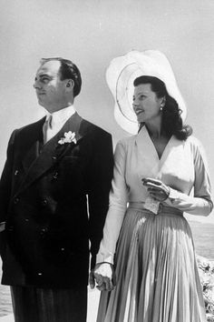 1949 - Prince Aly Khan and Hollywood icon Rita Hayworth