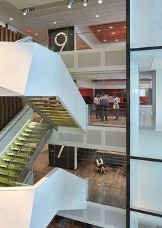 Deloitte HQ - Picture gallery #architecture #interiordesign #headquarters #staircases