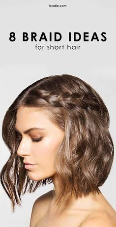 Cute braided style ideas for short hair.