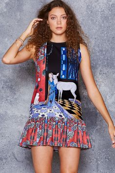 The White Deer Friller Dress - 48HR ($100AUD) by BlackMilk Clothing