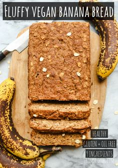 Fluffy Vegan Banana Bread Gluten Free