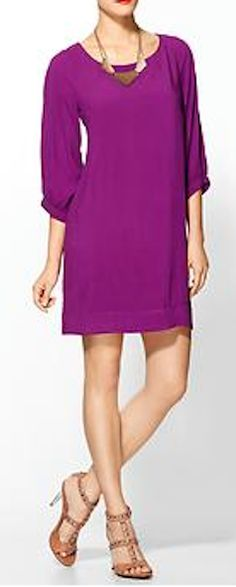 very berry 3/4 sleeve dress  http://rstyle.me/~2mglu
