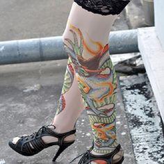 Tattoo Stockings Green Dragon Unisex Sexy Stockings 1 PAIR | Balli Gifts