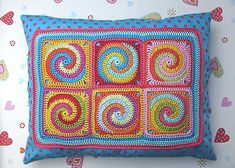 Ravelry: Granny Square TWISTER crochet pattern PDF ebook pattern by Paula Matos.