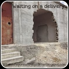 i take crayons with my coffee: Waiting on a Delivery