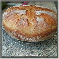 ~ Sandras Rezeptekiste ~ Kochen, Backen, Rezepte testen: Sandras Weizenmischbrot aus dem gusseisernen Topf