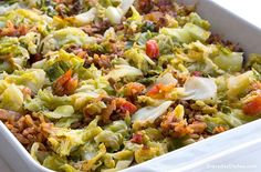 Love stuffed cabbage but hate the prep time? Our low-carb stuffed cabbage casserole is an easy and delicious alternative!