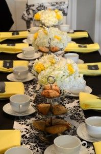 """So elegant and girly!! I would LOVE LOVE LOVE to have a """"ladies only"""" baby shower like this!"""