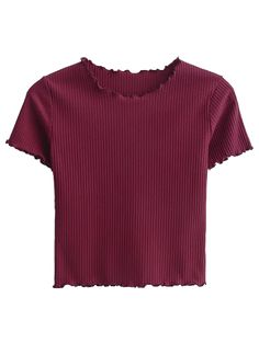 SHARE & Get it FREE | Cropped Flounced T-Shirt - Wine RedFor Fashion Lovers only:80,000+ Items • New Arrivals Daily Join Zaful: Get YOUR $50 NOW!