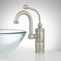 Buy the Signature Hardware Brushed Nickel Direct. Shop for the Signature Hardware Brushed Nickel Marcella Single Hole Bathroom Faucet with Drain Assembly - Set of 2 and save. Vessel Sink Vanity, Vessel Faucets, Brass Faucet, Bowl Sink, Widespread Bathroom Faucet, Lavatory Faucet, Bathroom Sink Faucets, Bathroom Fixtures, Sinks