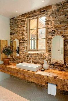 Baño Rustico Contemporaneo:10 ejemplos de baños rústicos para inspirarse o soñar