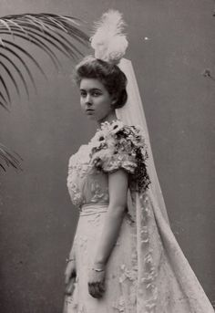 Princess Margaret of Connaught, later Crown Princess of Sweden, in court gown