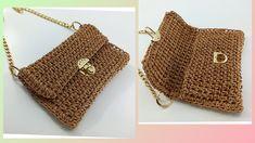 Crochet Handbags, Crochet Bags, Knit Crochet, Crochet Bag Tutorials, Crochet Patterns, Db Ag, Louis Vuitton Damier, Straw Bag, Purses And Bags
