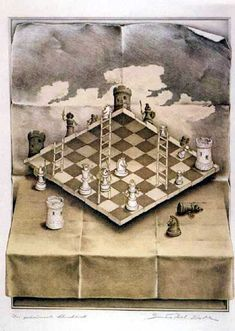 Mc Escher chessboard - I love the illusion Illusion Kunst, Illusion Art, 3d Street Art, Op Art, Escher Kunst, Mc Escher Art, Magritte, Dutch Artists, Art Moderne